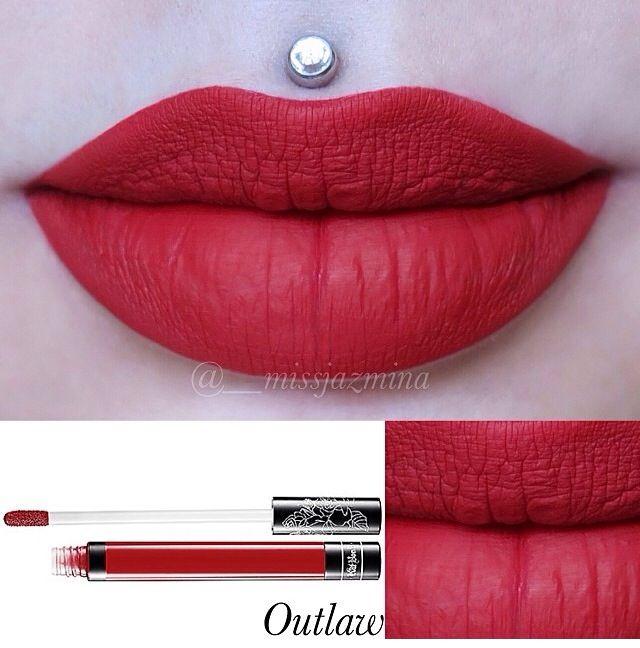 Kat Von d liquid lipstick in Outlaw