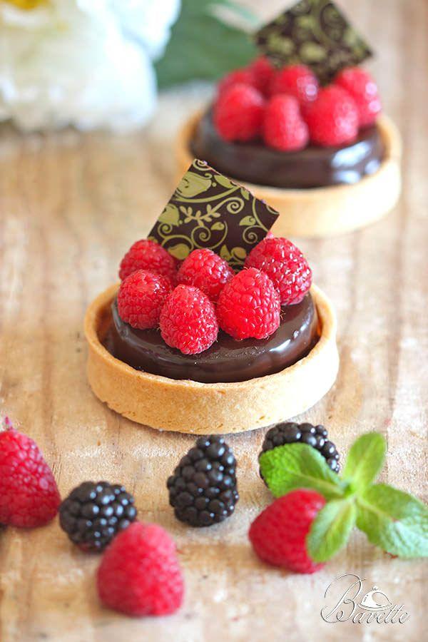 Tartaletas de mousse de chocolate y frambuesas | Bavette