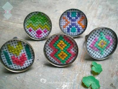 cross stitch pattern rings