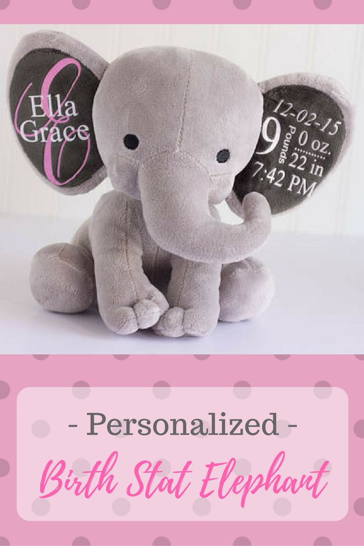 WE love our daughter's birth stat elephant. personalized Baby gift, Birth Stat Elephant, Birth Stat Gift, Stuffed Elephant, Baby Shower Gift, Baby Girl Gift, Baby Boy Gift #ad