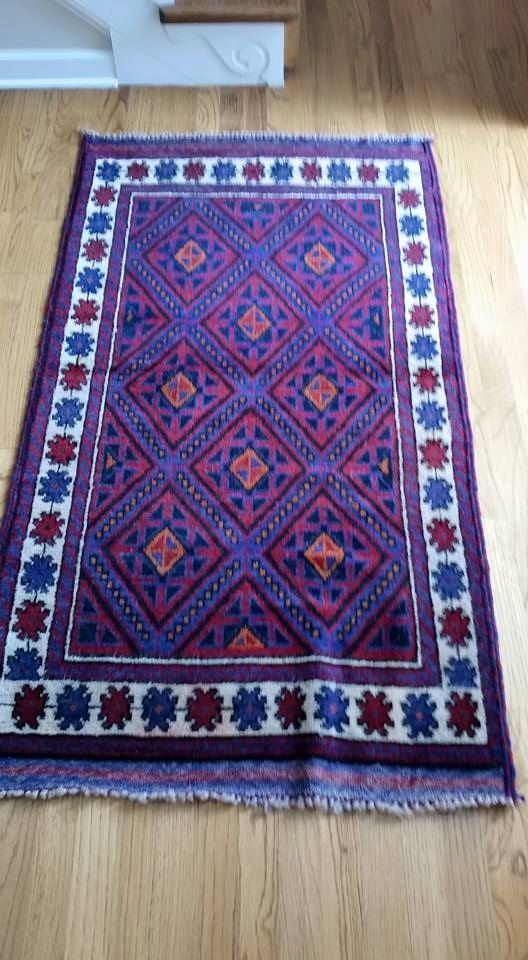 On Sale Hand Woven Afghan Rug with FREE SHIPPING by PastToFuture