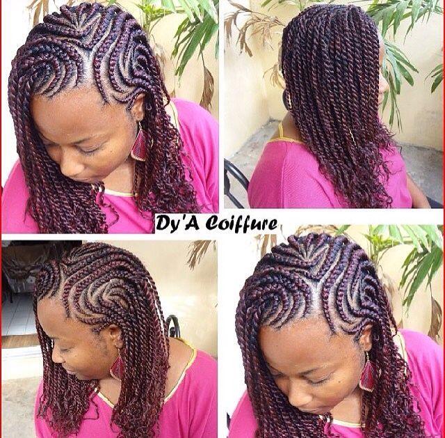 Unique hairstyles.