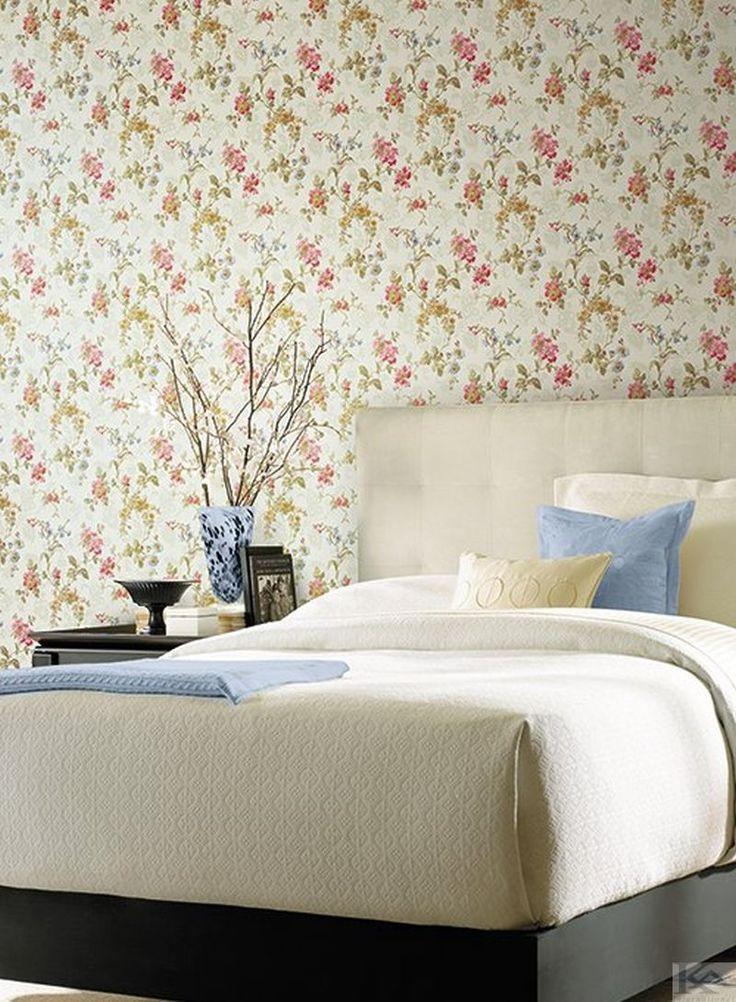 Tapetul floral, magie si culoare pentru casa ta? Wallpaper Bedroom. Tapet dormitor.