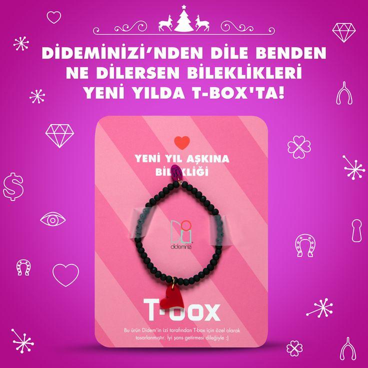 """Didemin İzi for T-box! Yeni yılda """"yeni yıl aşkına"""" bilekliği #dideminizi #dideminizifortbox #aksesuar #bileklik"""