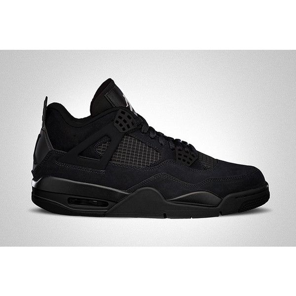AIR JORDAN 4 (BLACK CAT) Sneaker Freaker ❤ liked on Polyvore featuring shoes and jordans
