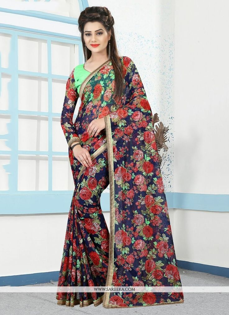 Everyone will admire you when you wear this clad to elegant affairs. An outstanding multi colour net printed saree will make you look very stylish and graceful. The brilliant attire creates a dramatic...