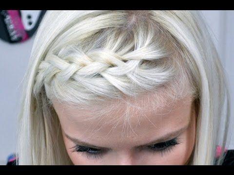 Tutorial: Trança Embutida na Franja ♡  french braid tutorial hair blonde platinum perfect hairstyles