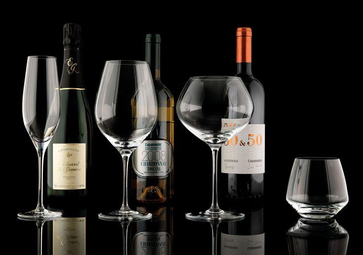 IVV - Un bicchiere ed una selezione di calici della linea Vizio #ivvnet