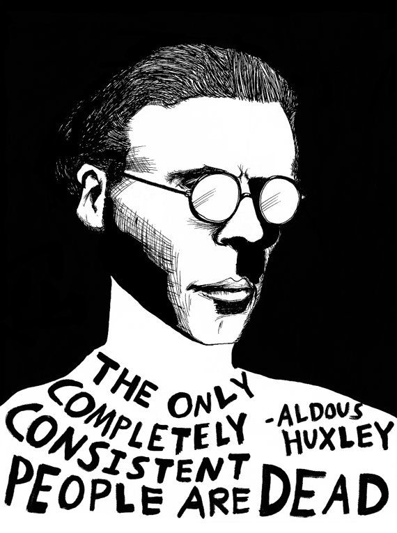 Technically this is true. And also kinda disconcerting.. Aldous Huxley (Authors Series) by Ryan Sheffield