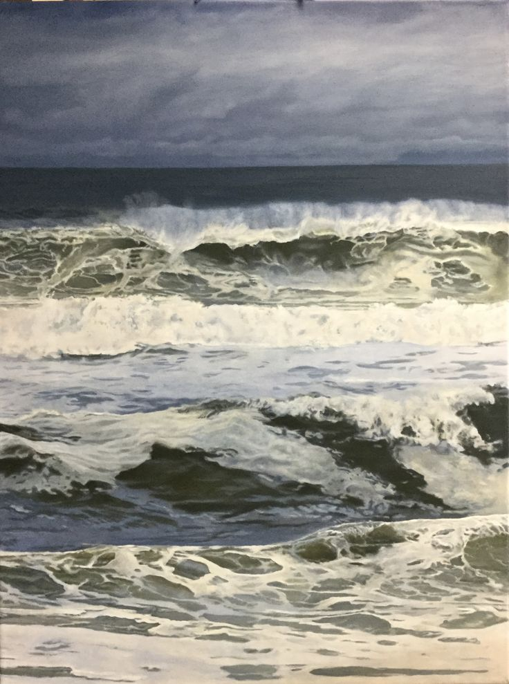 Carlos Primo Wave Art Oil On Canvas 4ftx5ft Carlosprimo