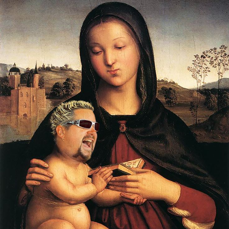 10 Paintings Of Guy Fieri As Every Renaissance Baby