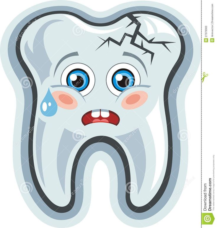 Happy Tooth Clip Art | Vector. Cartoon cute crying tooth.Toothache.