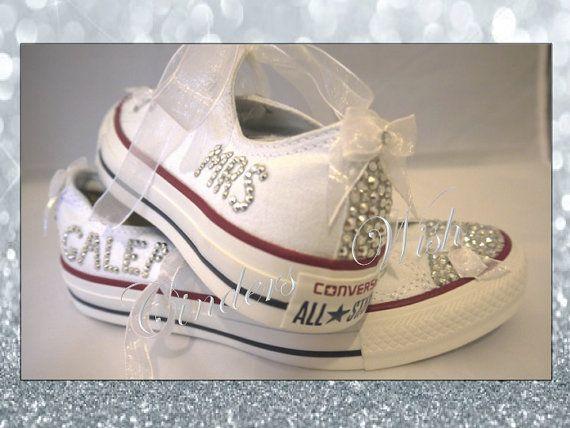 Wedding converse / bridesmaid converse / customised by CindersWish