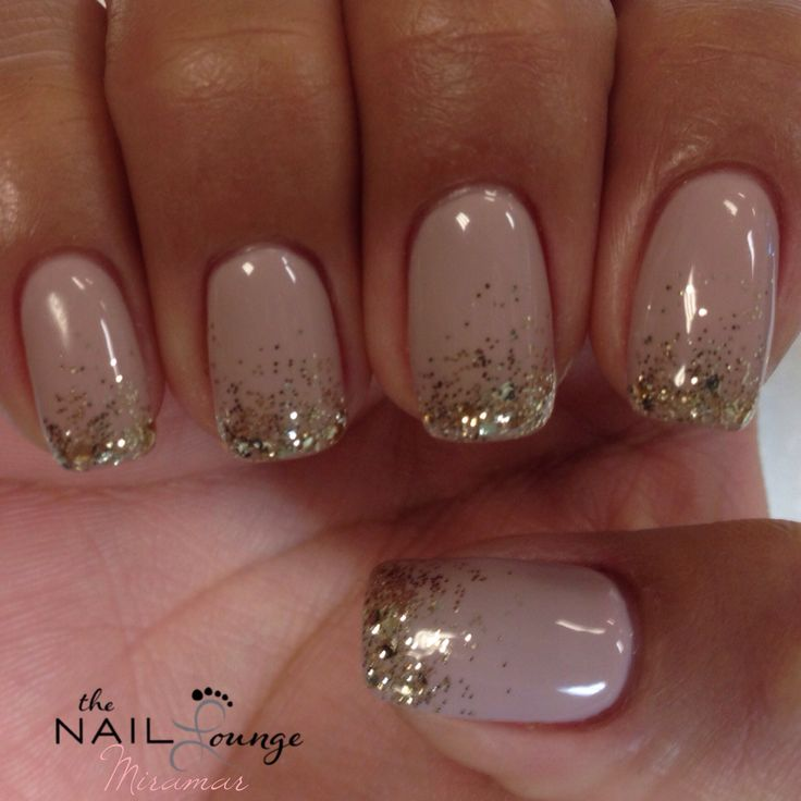 New Year's Eve sparkle glitter gel nails