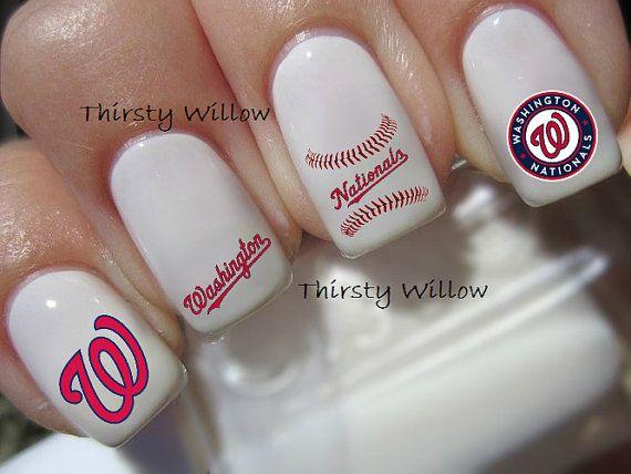 baseball nail art