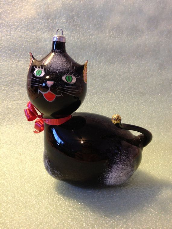 33 best images about Black Cat Christmas Ornaments on ...