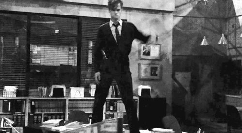 """Because he dances like this. 