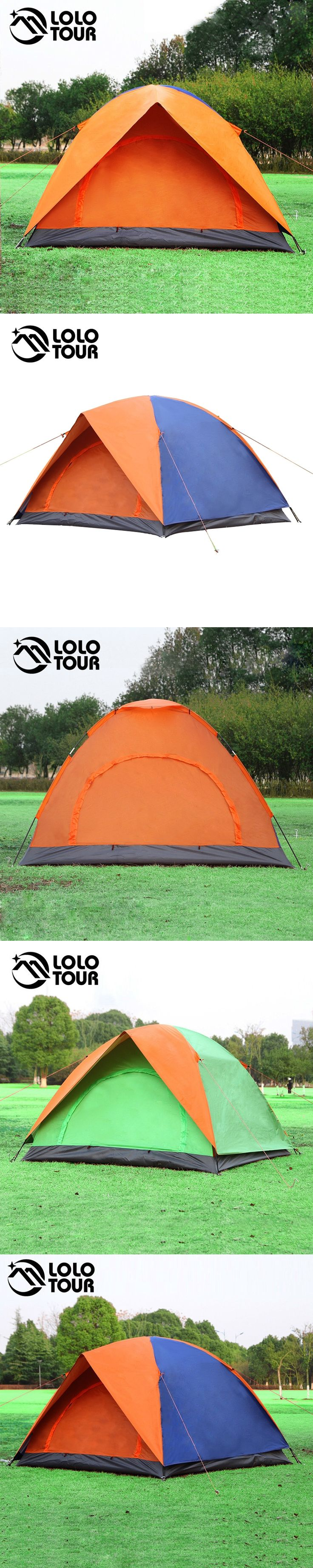 Double Layer 3-4 Person Outdoor Large Canvas Camping Beach Awning Ultralight Hiking Fishing Hunting Picnic Barraca Carpas Tente