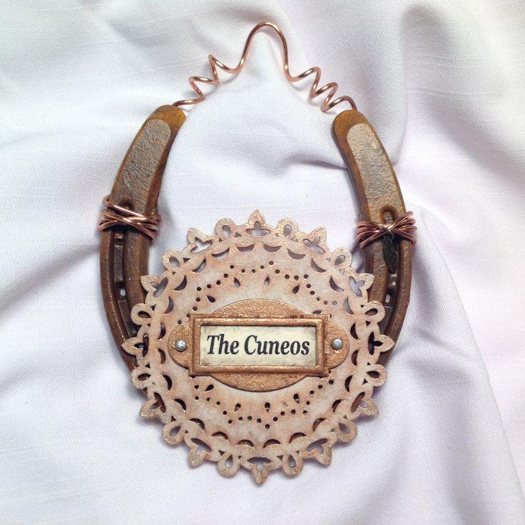 Good Luck Horseshoe- alpine Lace custom horseshoe- new ...