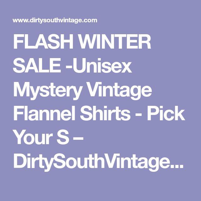 FLASH WINTER SALE -Unisex Mystery Vintage Flannel Shirts - Pick Your S – DirtySouthVintage.com