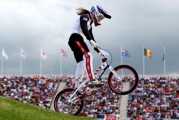 Caroline Buchanan, BMX. Bicycles Love Girls. http://bicycleslovegirls.tumblr.com/ Girl gets some air!