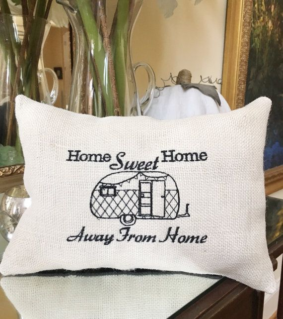 Camper & RV Decor Airstream Burlap Throw by MakingSomethingHappy