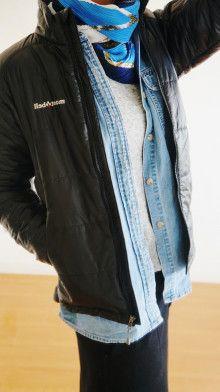 http://ameblo.jp/komatsu1108/entry-12145567528.html スカーフ巻き方  スカーフコーデ scarf arrangement エルメス カレ HERMES carres アラフォーファッション モンベル NEW BALANCE  デニムシャツ
