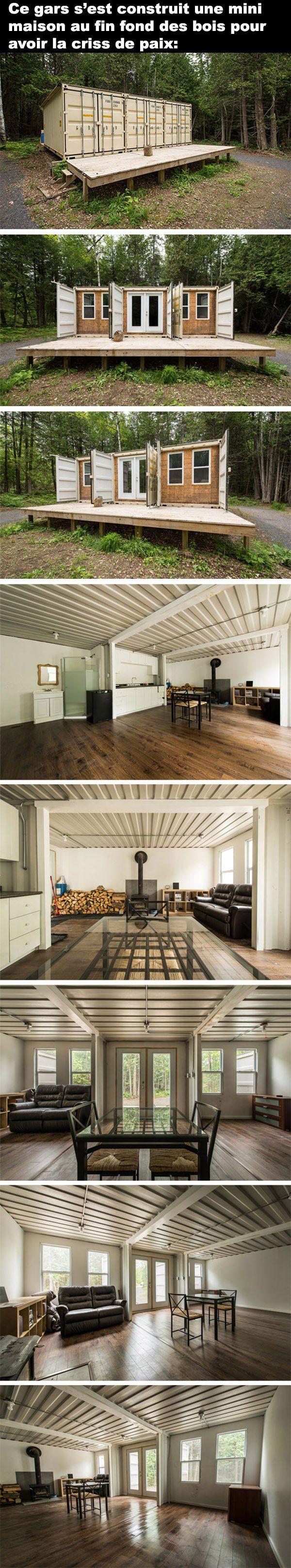 les 25 meilleures id es de la cat gorie mini maison sur pinterest mini cabines mini maisons. Black Bedroom Furniture Sets. Home Design Ideas