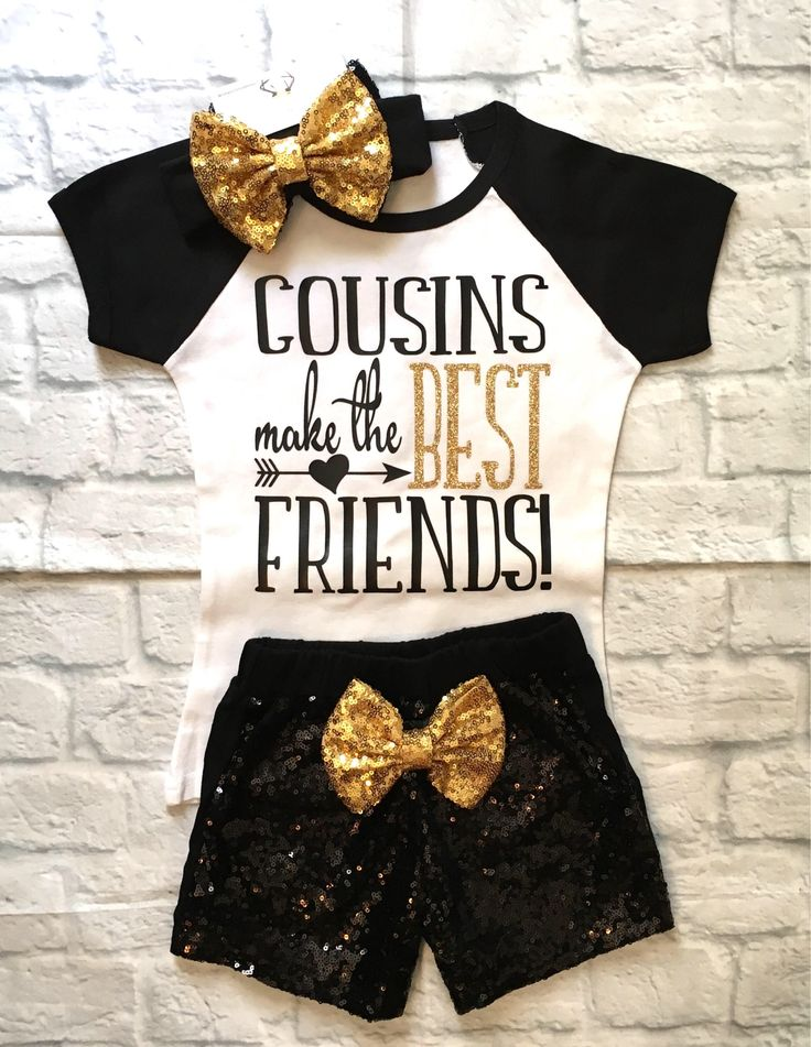 A personal favorite from my Etsy shop https://www.etsy.com/listing/527218594/girls-clothes-cousins-make-the-best