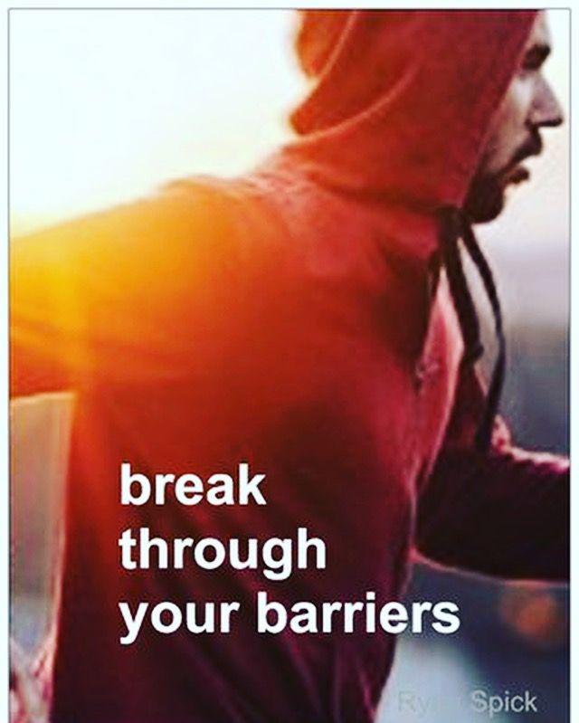 Break through your #barriers
