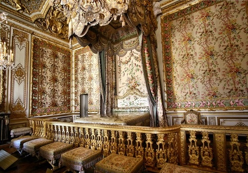 Marie Antoinettes Bedroom In Versailles The Open Door On Left Was A Hidden Eventually Used By To Escape Mob During An