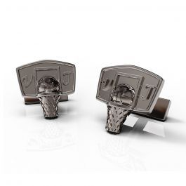 Buy Online Basketball cufflinks - Slam dunk in style with these 3D printed basketball cufflinks! See more at MakeWhale.com