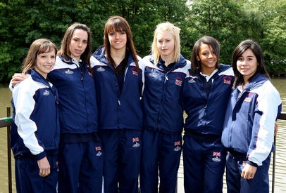 Team GB 2008: Hannah Whelan, Beth Tweddle, Rebecca Wing, Laura Jones, Becky Downie, Marissa King!