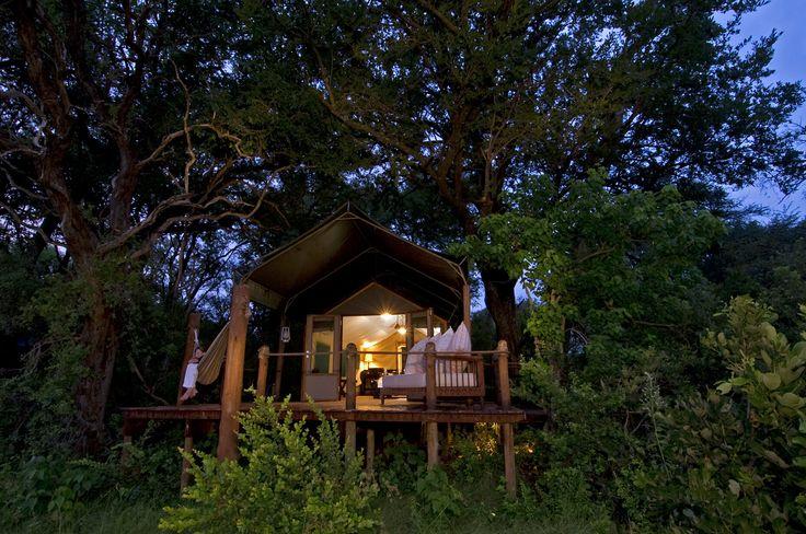 Each of Stanley's eight suites is raised off the ground to maximise the Delta views. #Botswana #SecretAfrica #Okavango