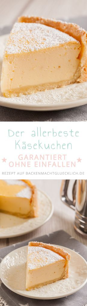 Unser liebstes Käsekuchenrezept: Klassisch, einfach, cremig, lecker. Mit meinen Tipps fällt die Quarkmasse des besten Käsekuchens nach dem Backen auch garantiert nicht ein.