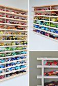 Dans le palmarès des jouets qui ont tendance à traîner un peu partout, les fameuses petites voitures tiennent une position de choix. Voici quelques idées originales pour ne plus risquer de marcher dessus.