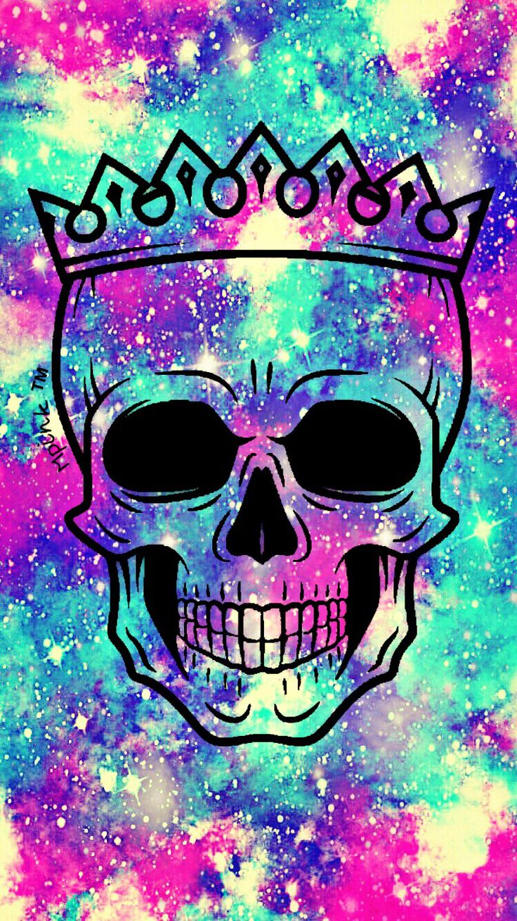 Skull Queen iPhone/Android Wallpaper Background