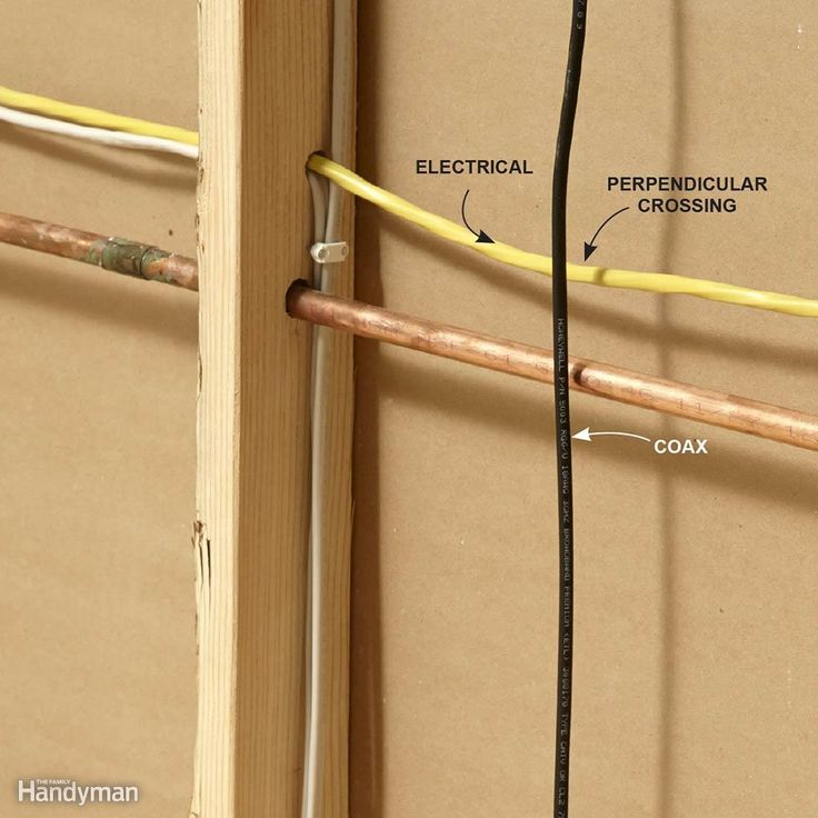 Run Coaxial Cables Perpendicular to Electrical Cables - Keep coaxial cables away…