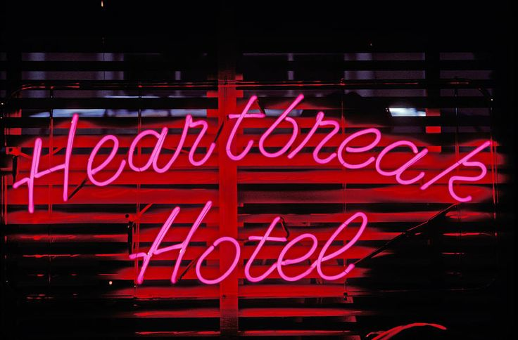 Heartbreak Hotel Neon Photograph  - Heartbreak Hotel Neon Fine Art Print