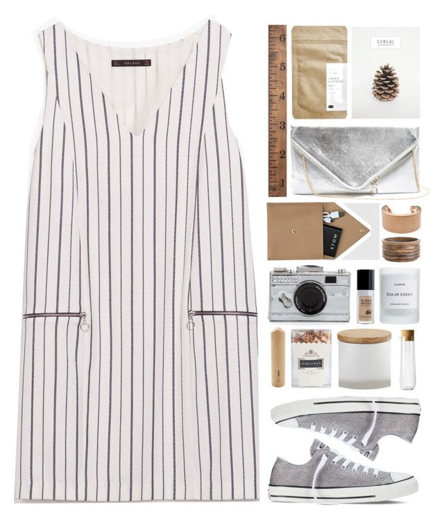 a little mix and match by annisaamara on Polyvore featuring Zara, Converse, GUESS, Kate Spade, Maison Margiela, STOW, CB2, Neiman Marcus, Byredo and Menu