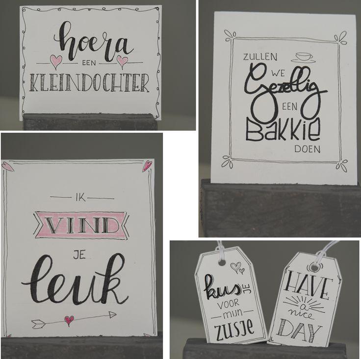 Een nieuwe serie zinvol kaarten 'Liefde'en een prachtige jaarkalender.Verder mindvoel kaarten een kadootje voor jezelf of je gezin.Bent U ook zo blij met een handgeschreven kaartje.Mooie teksten op een speelse manier op een kaart tekenen.Dan is handletteren zeker wat voor U.Kri-eet heeft mooie pakketten samengesteld om meteen mee aan de slag te gaan.