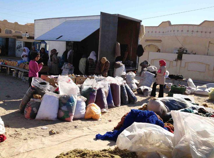 kira-cph in the weekly yarn market in southern Tunisia looking for wool yarn