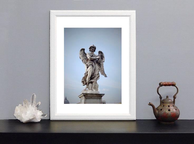 """Art print di fotografia serie: """"Gli Angeli di Roma"""" - Statua """"Angelo della Corona di spine"""" Ponte Sant'Angelo di Roma-foto su carta speciale di IMMAGINEeIDEA su Etsy"""