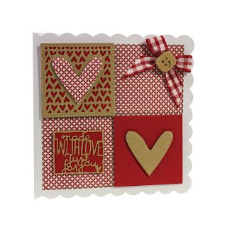 Made using the Everyday Squares Die Set Square Stitch Die And Emboss Set and the Quilted Quarters. http://craftydivacards.blogspot.co.uk/2015/09/patchwork-perfections-cards-already.html