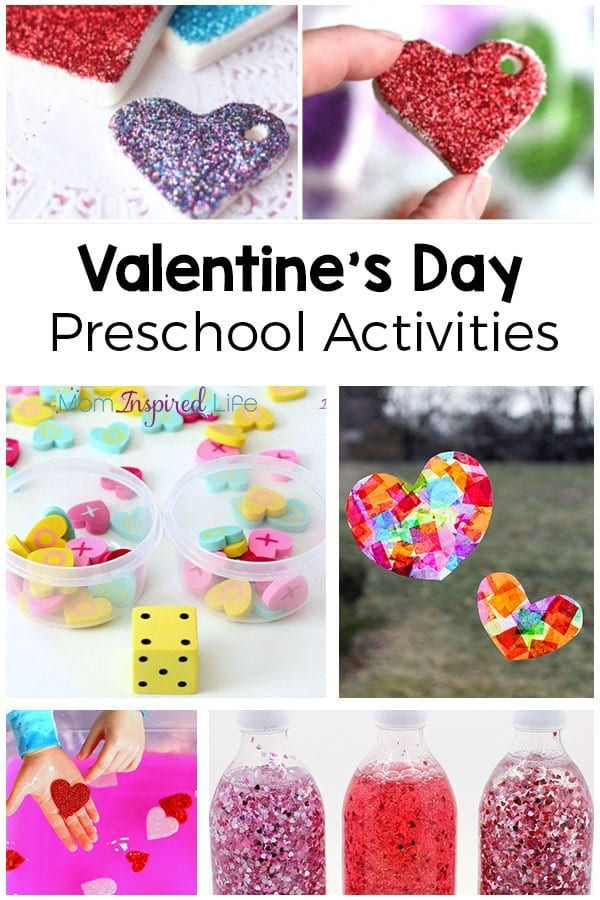 Valentine's Day activities for preschoolers! A roundup of fun math, literacy and craft all heart themed for Valentine's Day with preschoolers! #ValentinesDay #Preschool