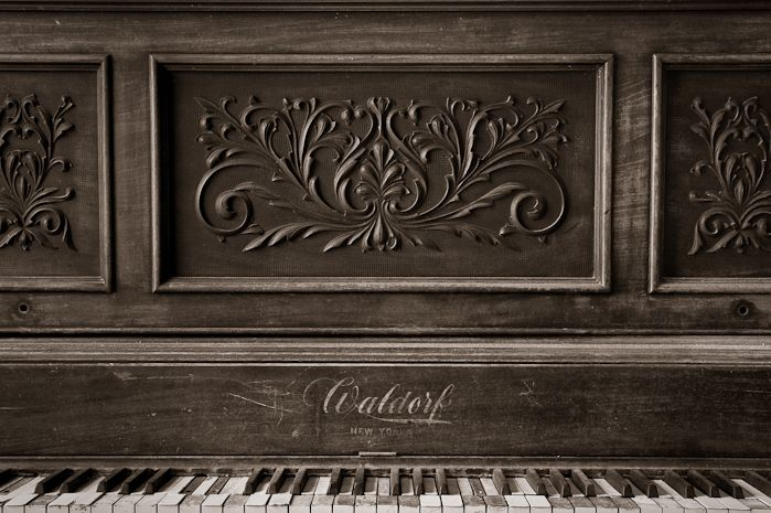 This piano is from an old church in North Dakota.
