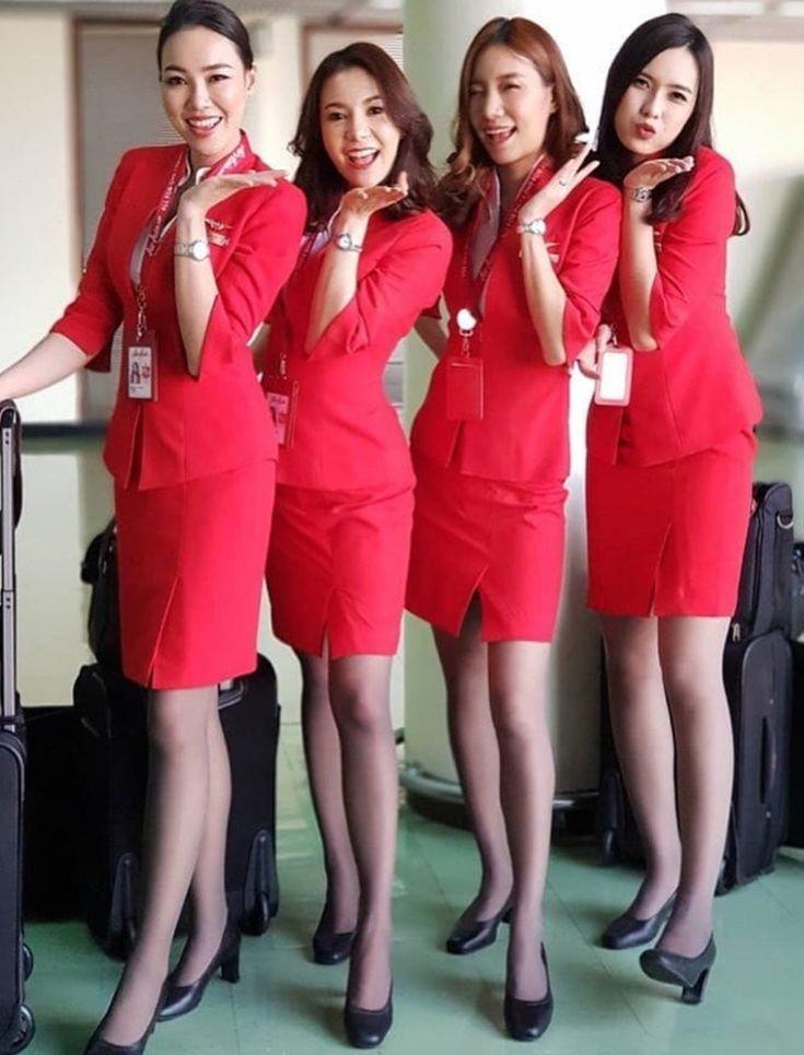 Women video asian air hostess