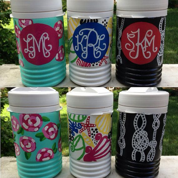 1/2 Gallon Custom Hand Painted Cooler by PrintsFromAPrep on Etsy