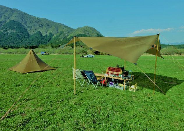 簡単10分でウッドポール タープ 自作 の1枚目の写真 アウトドア キャンプ Diy タープポール