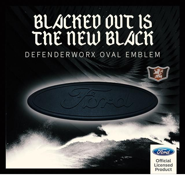blacked out ford logo. just in blacked out ford defenderworx oval emblems partscheap defenerworx logo